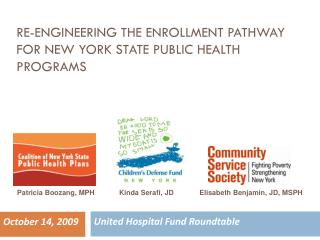 RE-ENGINEERING THE ENROLLMENT PATHWAY FOR NEW YORK STATE PUBLIC HEALTH PROGRAMS