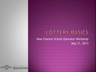 Lottery Basics