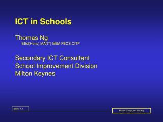 ICT in Schools