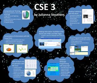 CSE 3 by Julianna Struthers