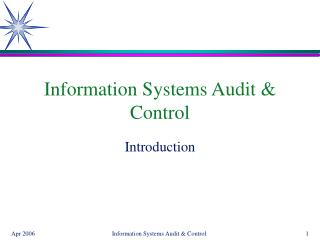 Information Systems Audit & Control