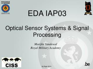 EDA IAP03 Optical Sensor Systems & Signal Processing