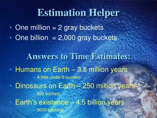 Estimation Helper
