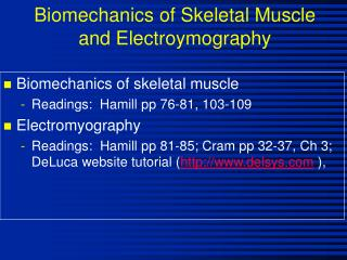 Biomechanics of Skeletal Muscle and Electroymography