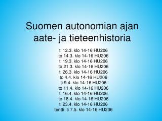 Suomen autonomian ajan aate- ja tieteenhistoria