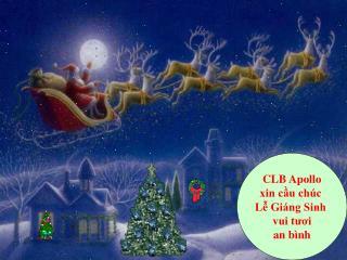 CLB Apollo xin cầu chúc  Lễ Giáng Sinh  vui tươi an bình