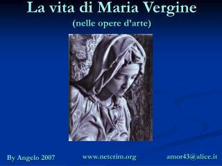 La vita di Maria Vergine (nelle opere d'arte)