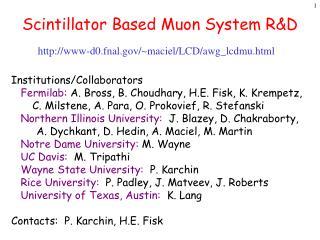 Scintillator Based Muon System R&D