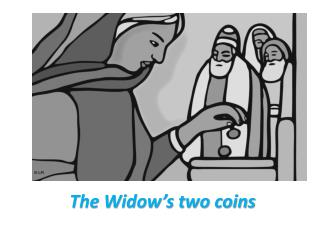 The Widow�s two coins