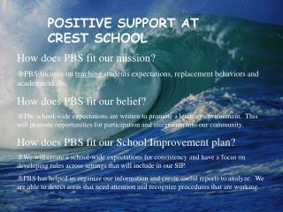 How does PBS fit our mission?