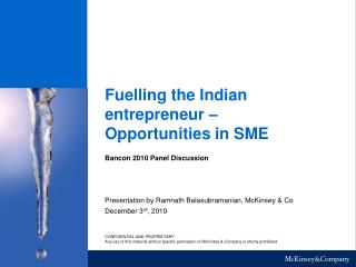 Fuelling the Indian entrepreneur – Opportunities in SME