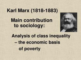 Karl Marx (1818-1883)