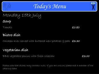 Monday 15th July