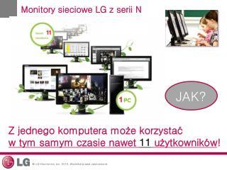 Monitory sieciowe LG zserii N