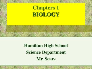 Chapters 1  BIOLOGY