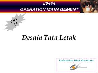 J0444 OPERATION MANAGEMENT