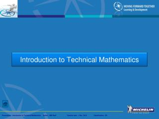 Introduction to Technical Mathematics