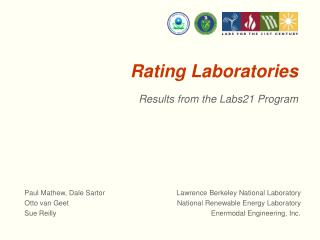 Rating Laboratories
