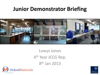 Junior Demonstrator Briefing