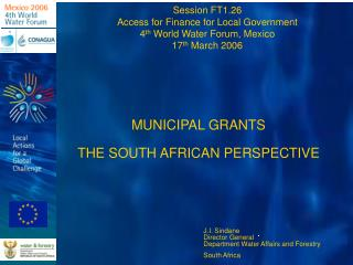 MUNICIPAL GRANTS  THE SOUTH AFRICAN PERSPECTIVE