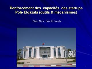 Renforcement des  capacités  des startups  Pole Elgazala (outils & mécanismes)