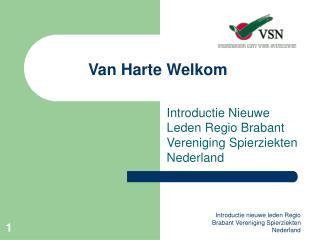 Van Harte Welkom