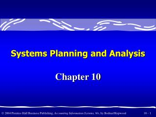 Systems Planning and Analysis
