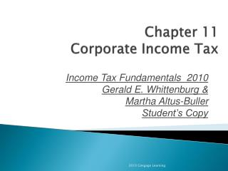 Chapter 11 Corporate Income Tax