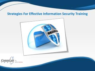 Strategies for Effective Information Security Training