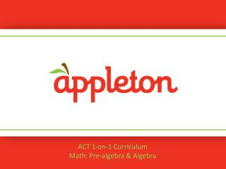 ACT 1-on-1 Curriculum Math: Pre-algebra & Algebra
