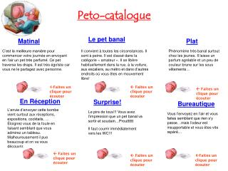 Peto-catalogue
