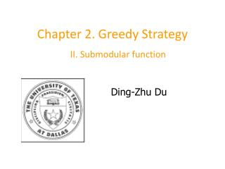 Chapter 2. Greedy Strategy
