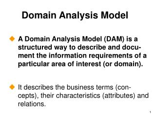 Domain Analysis Model