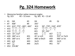 Pg. 324 Homework