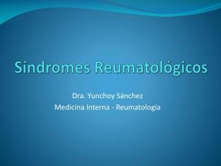 Síndromes Reumatológicos