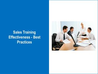 Sales Training Effectiveness - Best Practices
