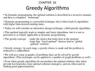 CHAPTER  16 Greedy Algorithms