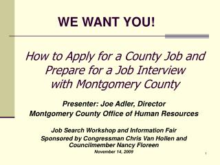 How to Apply for a County Job and Prepare for a Job Interview  with Montgomery County