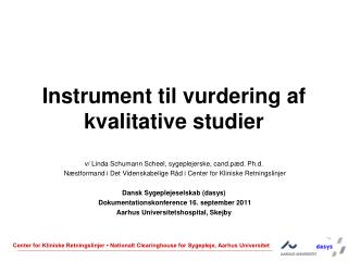 Instrument til vurdering af kvalitative studier