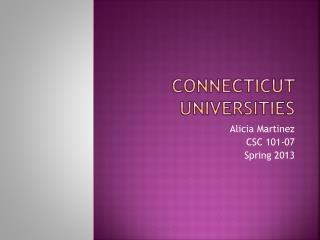 Connecticut Universities
