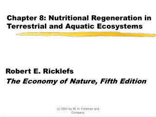 Chapter 8: Nutritional Regeneration in Terrestrial and Aquatic Ecosystems