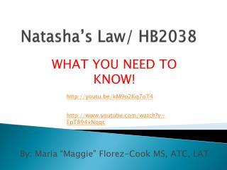 Natasha's Law/ HB2038