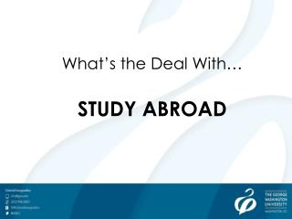 What's the Deal With… STUDY ABROAD