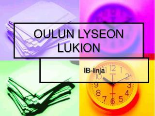 OULUN LYSEON LUKION