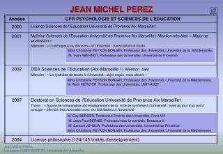 JEAN MICHEL PEREZ