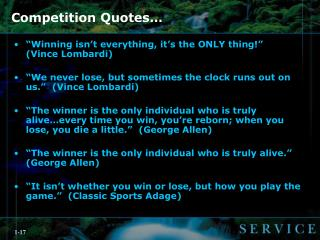 Competition Quotes…
