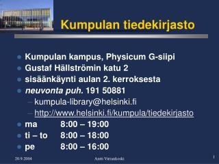 Kumpulan tiedekirjasto