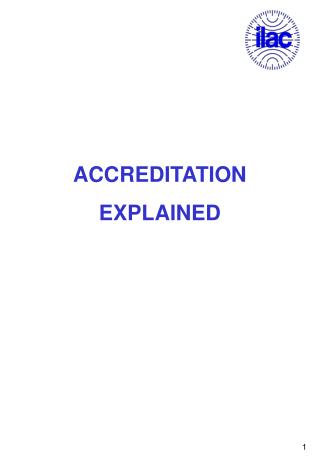 ACCREDITATION EXPLAINED