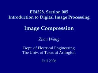 Image Compression: Coding and Decoding