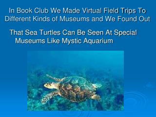 In Book Club We Made Virtual Field Trips To Different Kinds of Museums and We Found Out